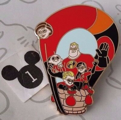 The Incredibles Mr Mrs Violet Jack Hot Air Balloon Mystery Collection Disney Pin