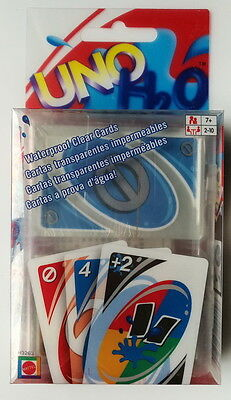 UNO H2O Waterproof Clear Playing Card Game