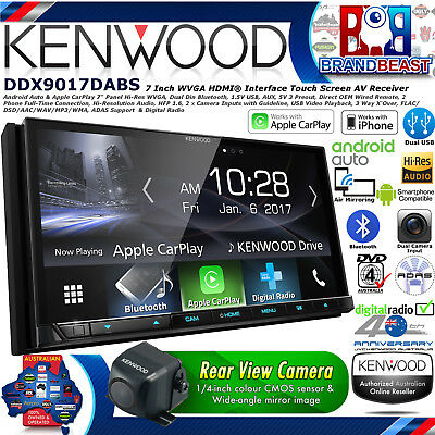 "New Kenwood DDX9017DABS 7"" Apple Carplay Android Auto Dab+ Dvd Dual Usb Dual cam"
