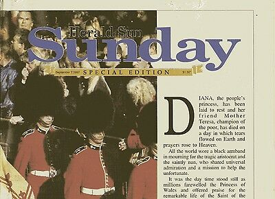 Herald Sun special covers - Funeral of Diana, Princess of Wales & Eulogy