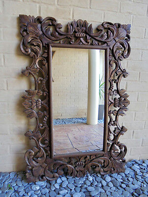 Carved Wooden Ornate French Provincial Mirror