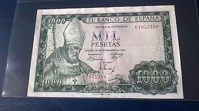 1 X Spanish Banknote in V/F condition