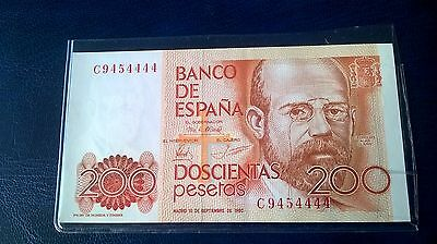 1 X Spanish Banknote in Unc condition