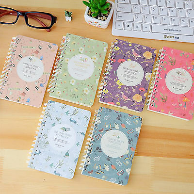 Flower Notepad Spiral Pad Book - Blank Pages Paper Notebook Tabbed 80 sheets