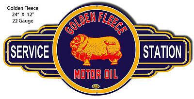 Golden Fleece Motor Oil And Gas Reproduction Sign 12x12