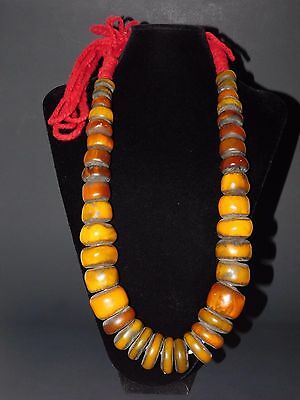 Vintage resin Berber trade beads African Jewelry necklace, Morocco