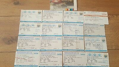17 Manchester City Home/Away Ticket Collection 1995-2003 inc TNS Uefa Cup Away
