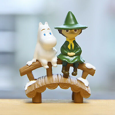 Moomin Valley Muumi Snufkin Resin Action Figure Collection Home Yard Decor