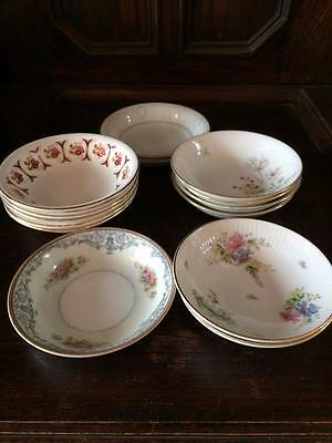 Mixed Lot X 14 Vintage China Sweet Jam & Cream Bowls Vintage Wedding Party