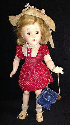 """Vintage 14"""" Composition Effanbee Suzanne Doll"""
