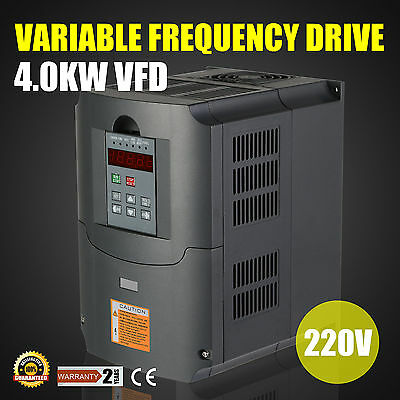4Kw 5Hp Vfd Inverter 10A 220V 1 Or 3 Phase Variable Speed Drive Drive Inverter