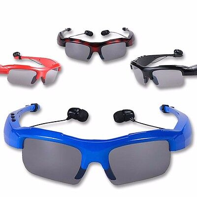 New Wireless Bluetooth SunGlasses Headset Headphones Handfree For iPhone Samsung
