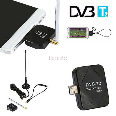 DVB-T DVB-T2 USB Dongle Receiver HD TV Tuner For Phone/Tablet PC fo12