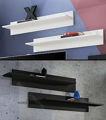 Floating Shelves Wall Mounted Shelf New White And Black Home Decor Premium