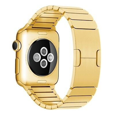 HI-TECH Gold For Apple Watch 42mm Stainless Steel Watchband