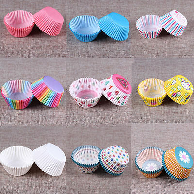 100 Pcs Paper Cake Cup Liners Baking Cupcake Cases Muffin Cake Cases Holder