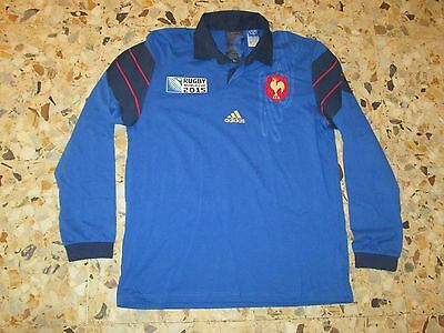 maillot shirt jersey EQUIPE DE FRANCE RUGBY WORLD CUP 2015 IRB COUPE MONDE