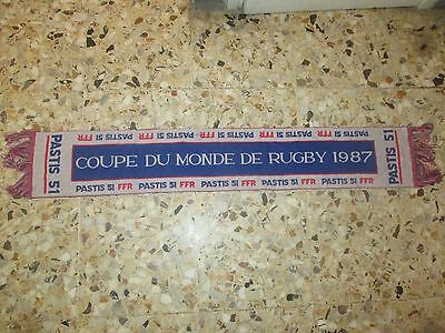 echarpe scarf COUPE MONDE RUGBY 1987 FFR EQUIPE FRANCE WORLD CUP PASTIS maillot