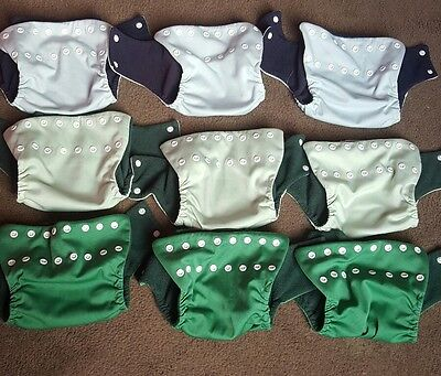 Pea Pods Modern Cloth Nappies, Small, Shells Only, GUC