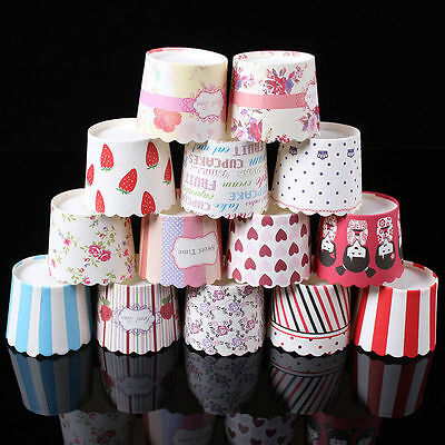 50 x Paper Cupcake Liners Cake Cup Baking Wedding Muffin Cases Cake Decorating