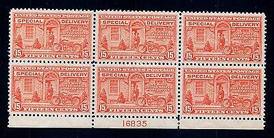 GOLDPATH US stampSC#E13 NEVER HINGED VERY FINE,PERF SEPS Cat$700_SBH_PLATE_BLOCK