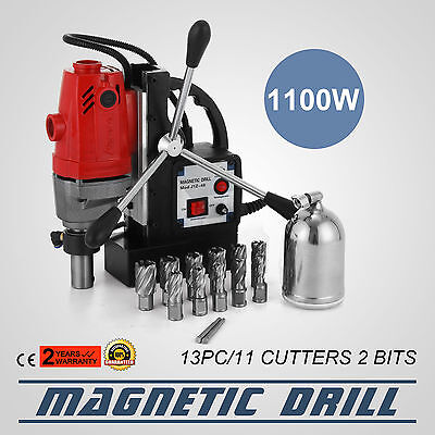 MD40 Magnetic Drill Press 13PC Cutter Kit Compact Switchable 12000N Traction
