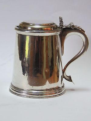 Britannia Standard Silver Mustard pot in the form of an 18C Tankard