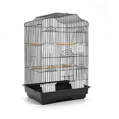 Bird Cage Parrot Pet Carrier Portable Canary Budgie Finch Perch Small Black 68cm
