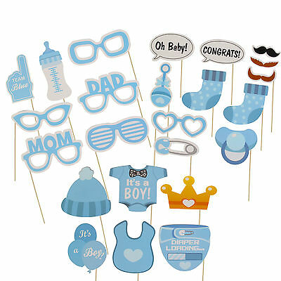 25pcs Baby Shower Photo Booth Props Little Lady Boy New Born Celebrate Props