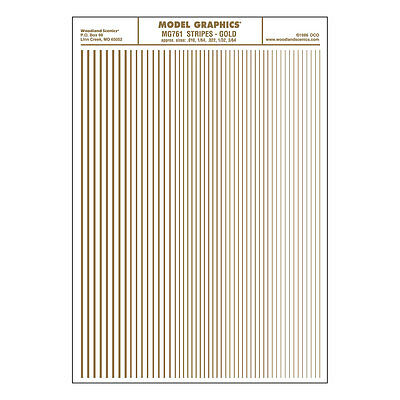Stripes Gold Dry transfer Sheet – Woodland Scenics MG761 - free post F1