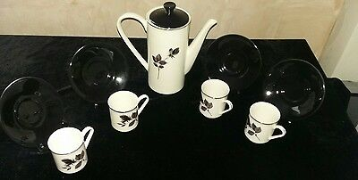 Lord Nelson 'Black Rose' coffee set