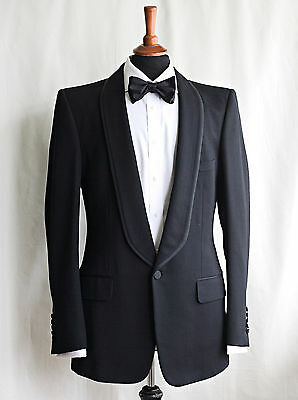 GUCCI Dinner Suit Tuxedo - Black, Shawl Collar, UK 40R, 34W 32.5L