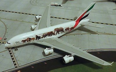 "Emirates A380 ""United for Wildlife #3"" Model Aircraft 1/400 Scale Gemini Jets"