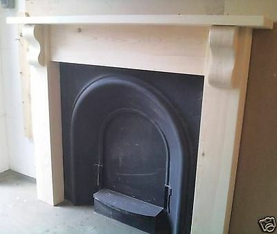 Real Pine Fire Surround With Real Wood Corbels