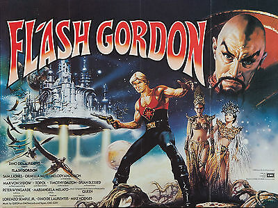 "Flash Gordon 1980 16"" x 12"" Reproduction Movie Poster Photograph"