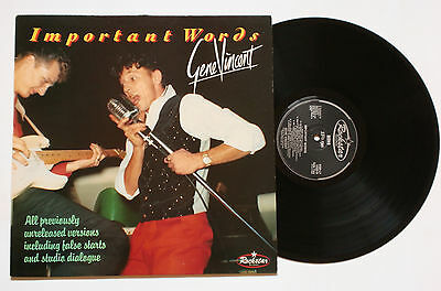 ♫ LP - GENE VINCENT: Important Words (1989, Rockstar Records)  ☠ Rockabilly