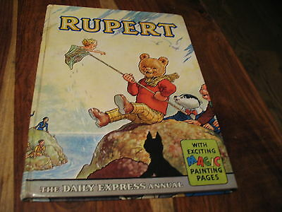 Vintage Original 1963 Rupert Bear Annual, Price Unclipped 6/-