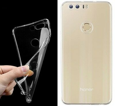 Clear Ultra Thin Soft Silicone Gel TPU Case Cover Skin For Huawei Honor 8 5.2""