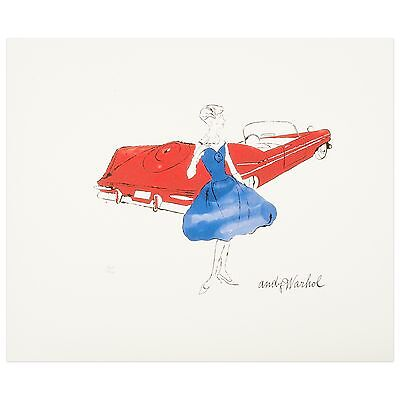 Andy Warhol original Lithografie signiert nummeriert CMOA Female Fashion Figure