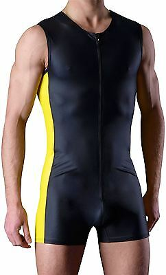 Manstore Men's M274 Body Tank (Y-Laque/M) All In One Sports Top Suit