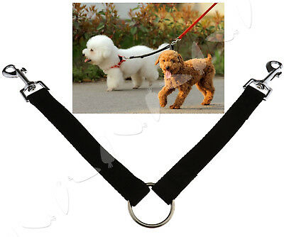 Coupler Leash 1 Lead Duplex 2 Way Multiple Dual Double Leash Dog Walking