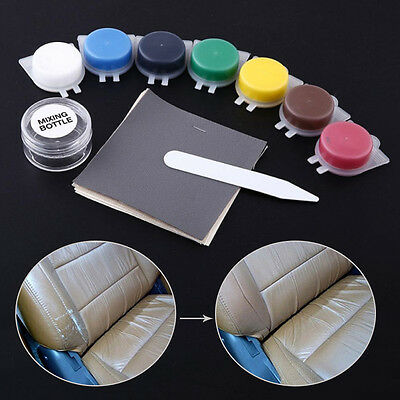 UK Hot Seat Chair Leather Sofa Permanent Repair Scratches Tool Kit Mix Compound