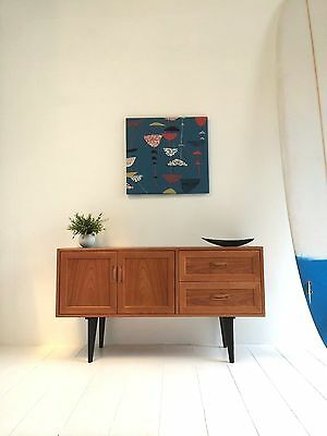 Vintage Retro Sideboard Small Danish Influence Record Cabinet