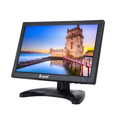 "AU! Portable 10"" Color IPS Digital Monitor AV/VGA/TV/HDMI For Security CCTV DVD"