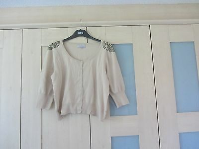 Women's cotton blend cardigan. Be Beau, size 16. 3/4 sleeve.