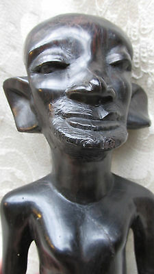African Warrior Old Man Elder Ebony Wood Statue / Figure Hand Carved 20CmT