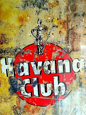 Havana Club, Retro metal Aluminium Vintage Nostalgic Sign Bar Pub Club Man Cave