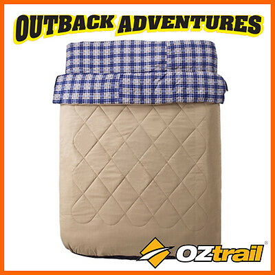 Oztrail Outback Comforter Queen Size Two Person Duo Sleeping Bag -5 Degree