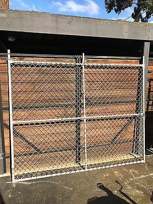 Galvanized Gal Steel Chain Mesh Gate Round Posts and Fence - Wire Cyclone Link
