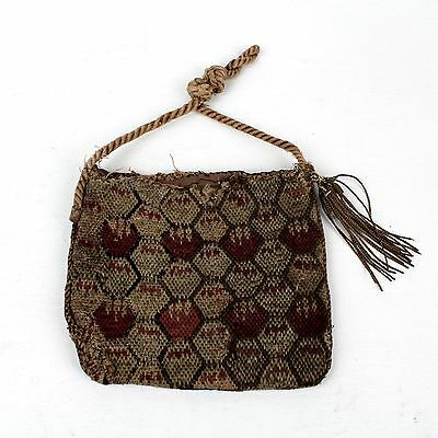 Antique Revolutionary War Period Flame Stitched Embroidered Purse or Pocket - VR